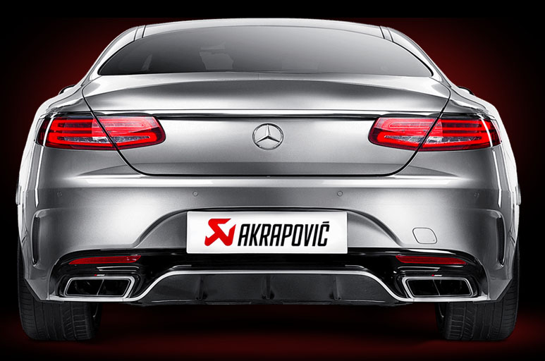 Akrapovic exhaust system for Mercede-AMG